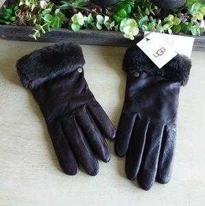 UGG Gloves: size L: color :dark brown